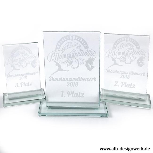 Pokal Laser Gravur Glasgravur Glas Glaspokal