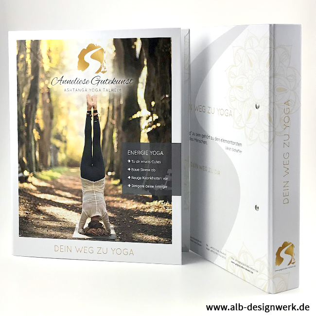 A4 Ringbuch Ordner Ringmechanik 2-Loch Ordnersystem eigene Gestaltung gestalten im Firmendesign