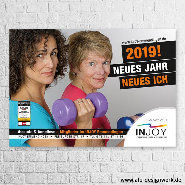Großfläche 18/1 Plakat Poster INJOY Fitness Studio