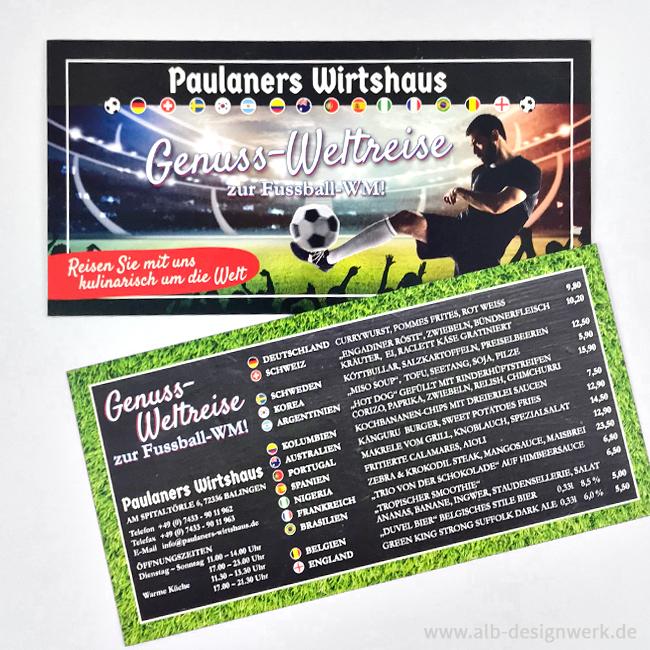 Postkarte Aktion Werbeaktion Kundeninformation Speisekarte Paulaners