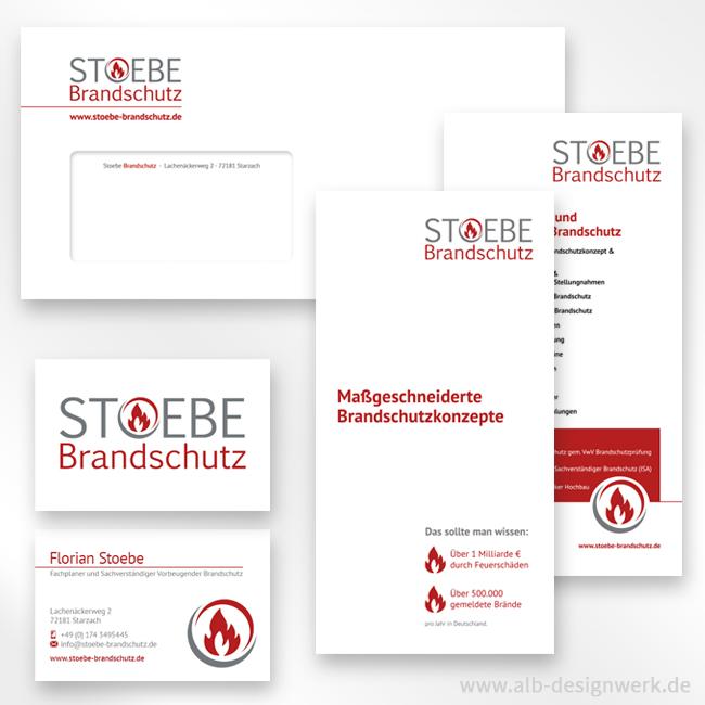 Texte Gestaltung Produktion Druck Design www.stoebe-brandschutz.de