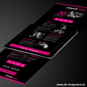Konzeption Gestaltung Design Webdesign Programmierung responsive Homepage Website black pink