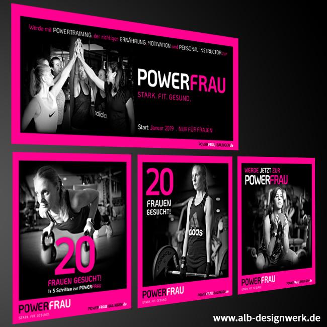 Post Beitrag Gestaltung Design Online Web Powerfrau 72336