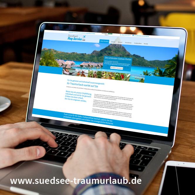 Web-Design, Optimierung, Texte, neue Struktur Dorothee's Flug-Service