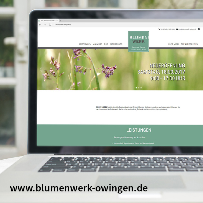 Webdesign Blumenwerk Owingen